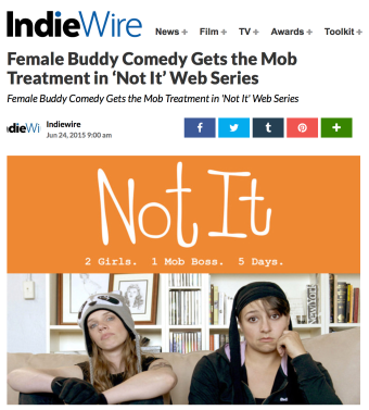 IndieWire write up: Not It